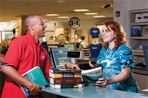 Student purchasing textbooks