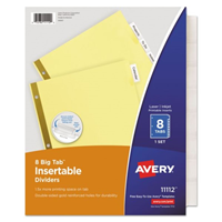 AVERY BIG TAB DIVIDERS PAPER
