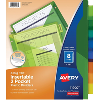 Avery Big Tab Dividers Plastic Pockets