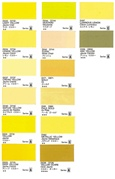 HOLBEIN GOUACHE YELLOWS