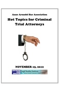 Hot Topics For Criminal Trial Attorneys