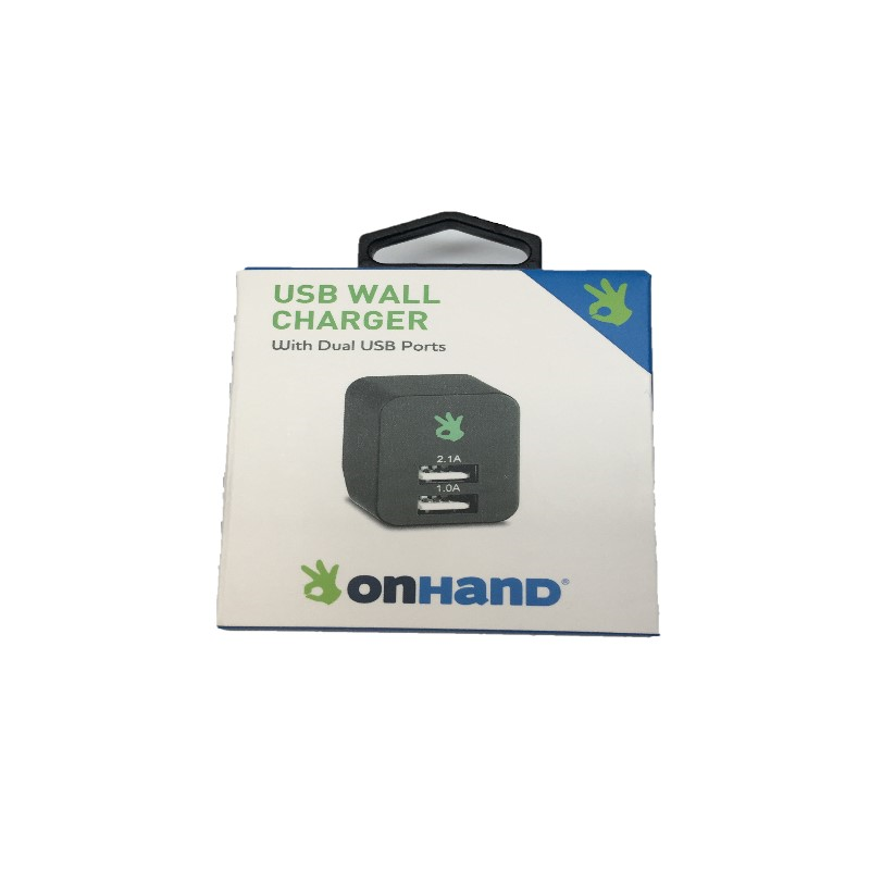 ONHAND WALL CHARGER 2 PORT BLACK (SKU 1084112928)