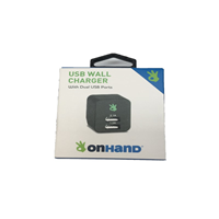 Onhand Wall Charger 2 Port Black