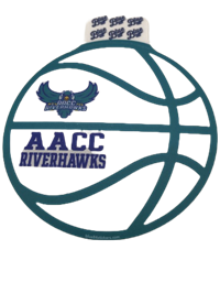 HAWKS BASKETBALL STICKER