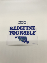 REDEFINE YOURSELF HAWKS STICKER